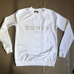 Balmain logo white Sweatshirt